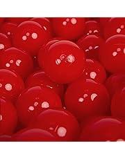 KiddyMoon 300 ∅ 7Cm Bolas para Piscina Certificadas para Niños, Rojo