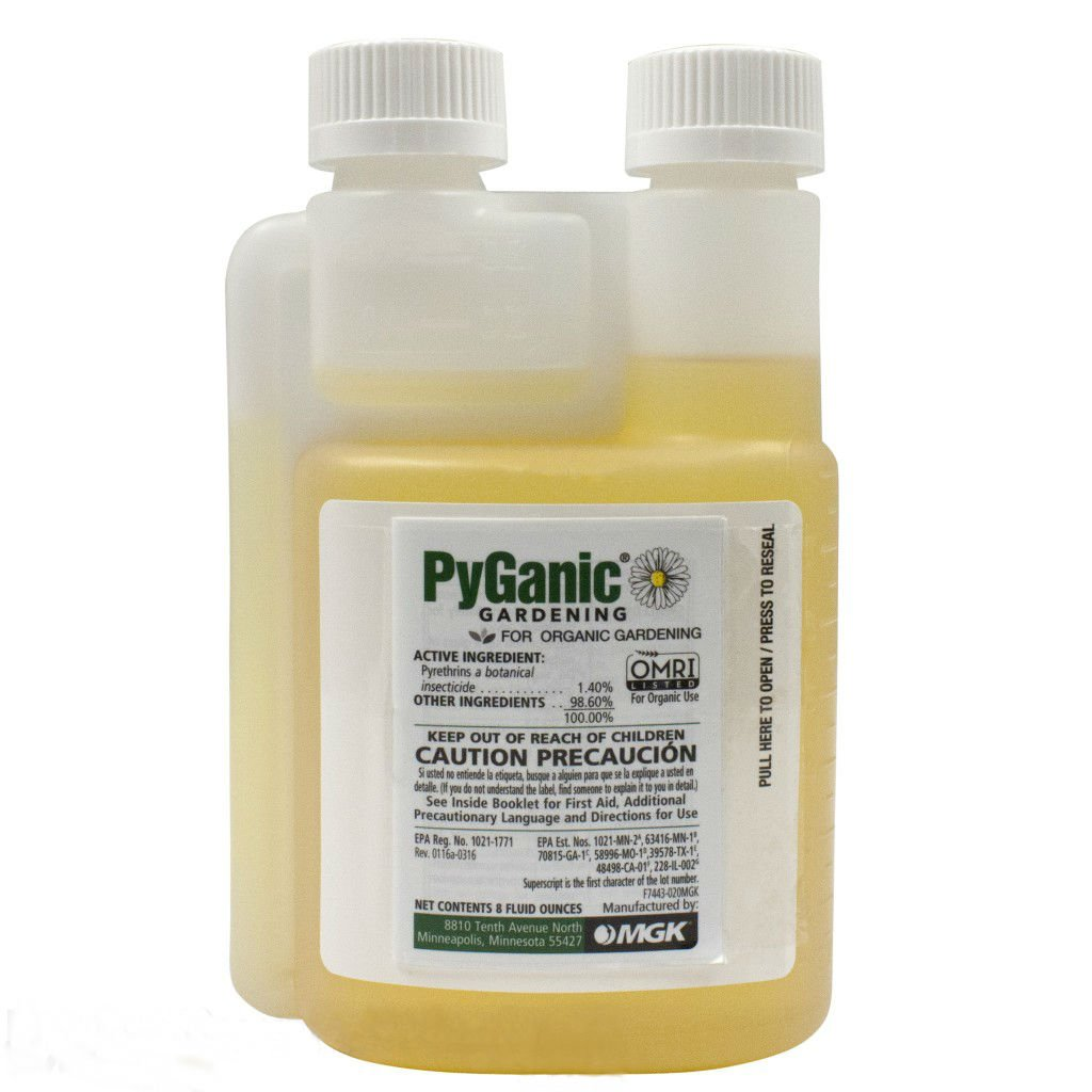PyGanic Gardening 8oz, Botanical Insecticide Pyrethrin Concentrate for Organic Gardening by MGK