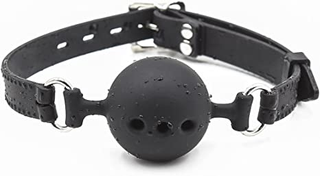 Fantasy Black Faux Leather Soft Fur Handcuffs With Ball Gag Lover Role play Set