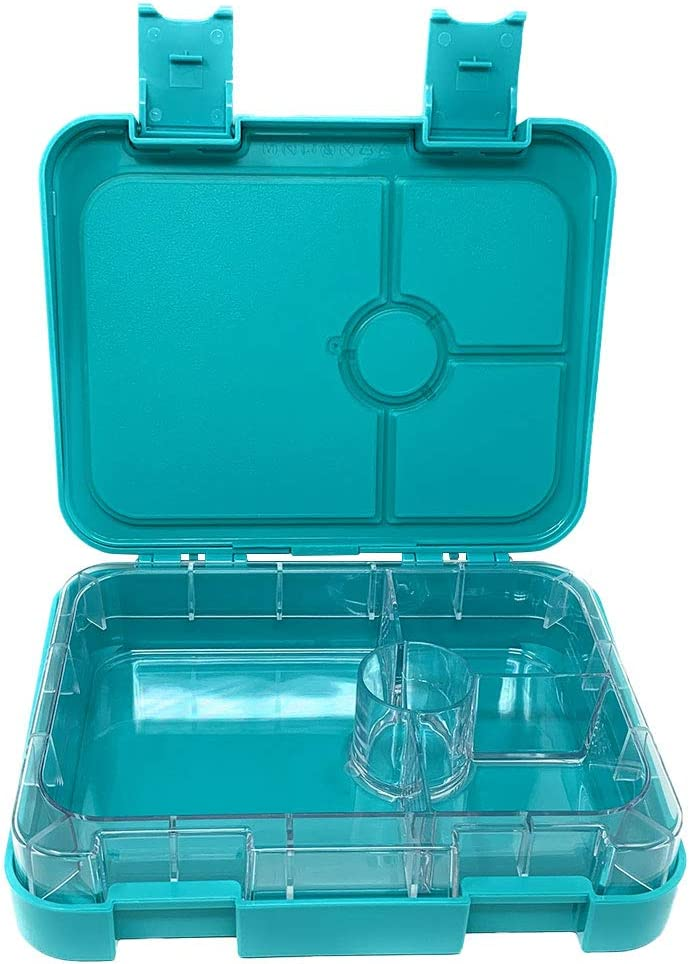 Mountain Teal Adults Teens Munchebox Kids Bento Lunch Boxes Kids Meal Prep Lunch Box for Children Leakproof Compartment 4 Compartment Bento Box Style for Meal and Snack