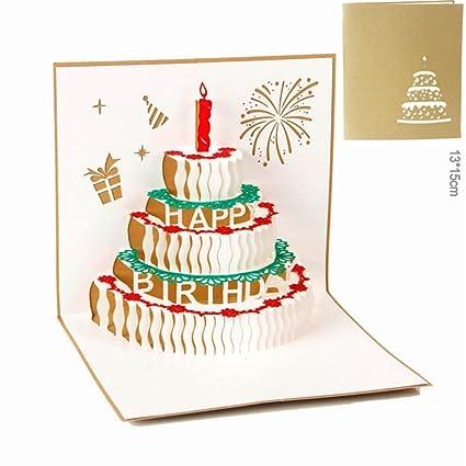 Amazon Com Birthday Card 3d Paper Pop Up Handmade Happy Birthday