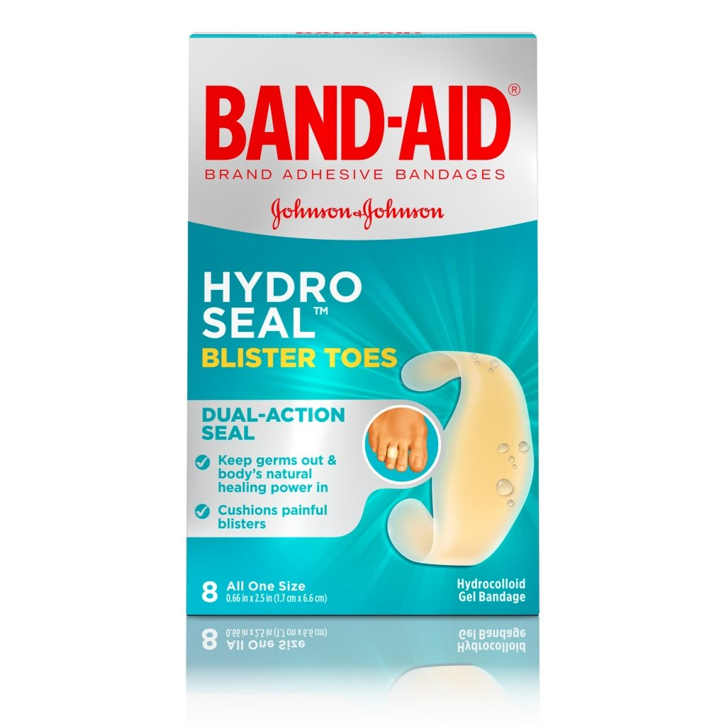 Band-Aid Hydro Seal Blister Toes, One Size, 8 Count Each (Pack of 11)