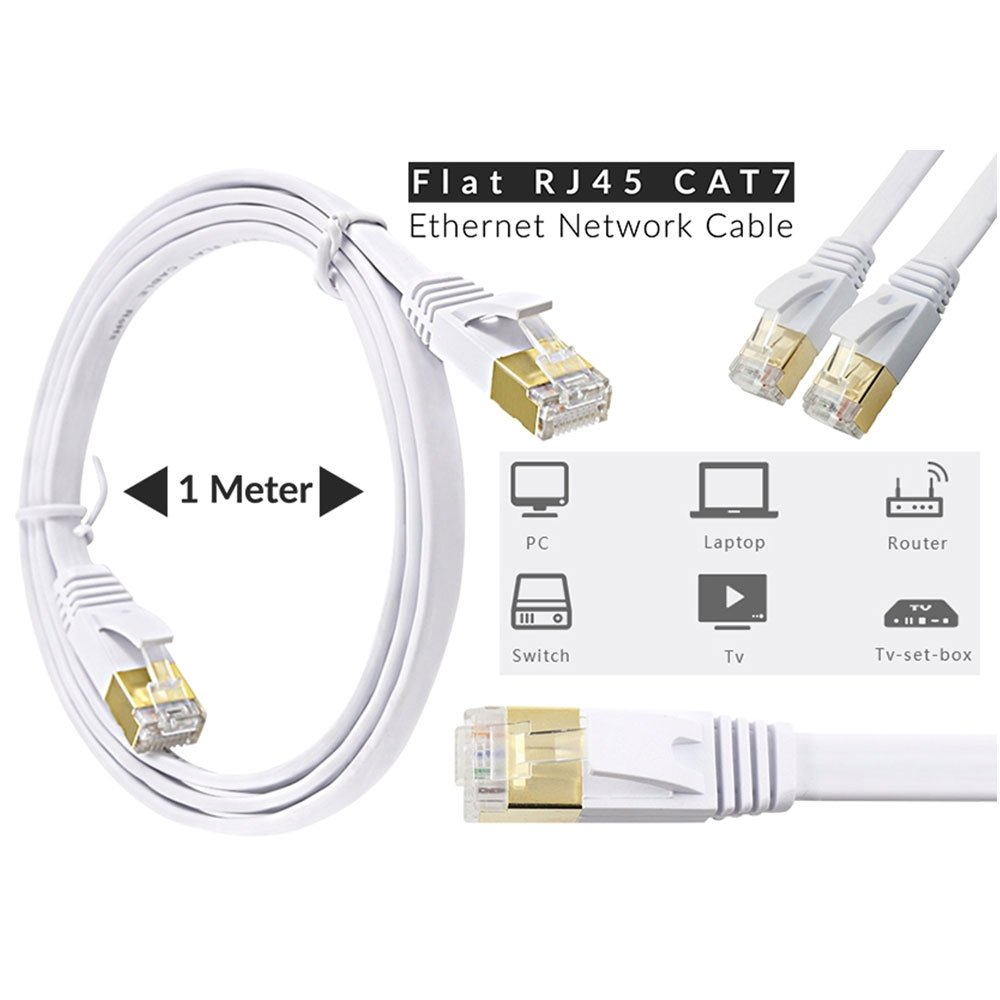 1m 33ft Flat Cat7 Rj45 Ftp Ethernet Lan Network Cat 7 Wiring Diagram Electronics