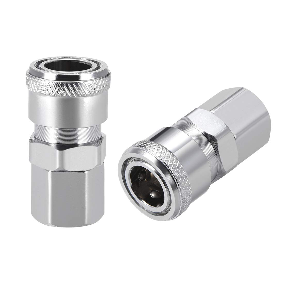 uxcell Air Tool Pressure Washer Female High Flow Coupler Plug G 1//2 Quick Connect Fitting Set
