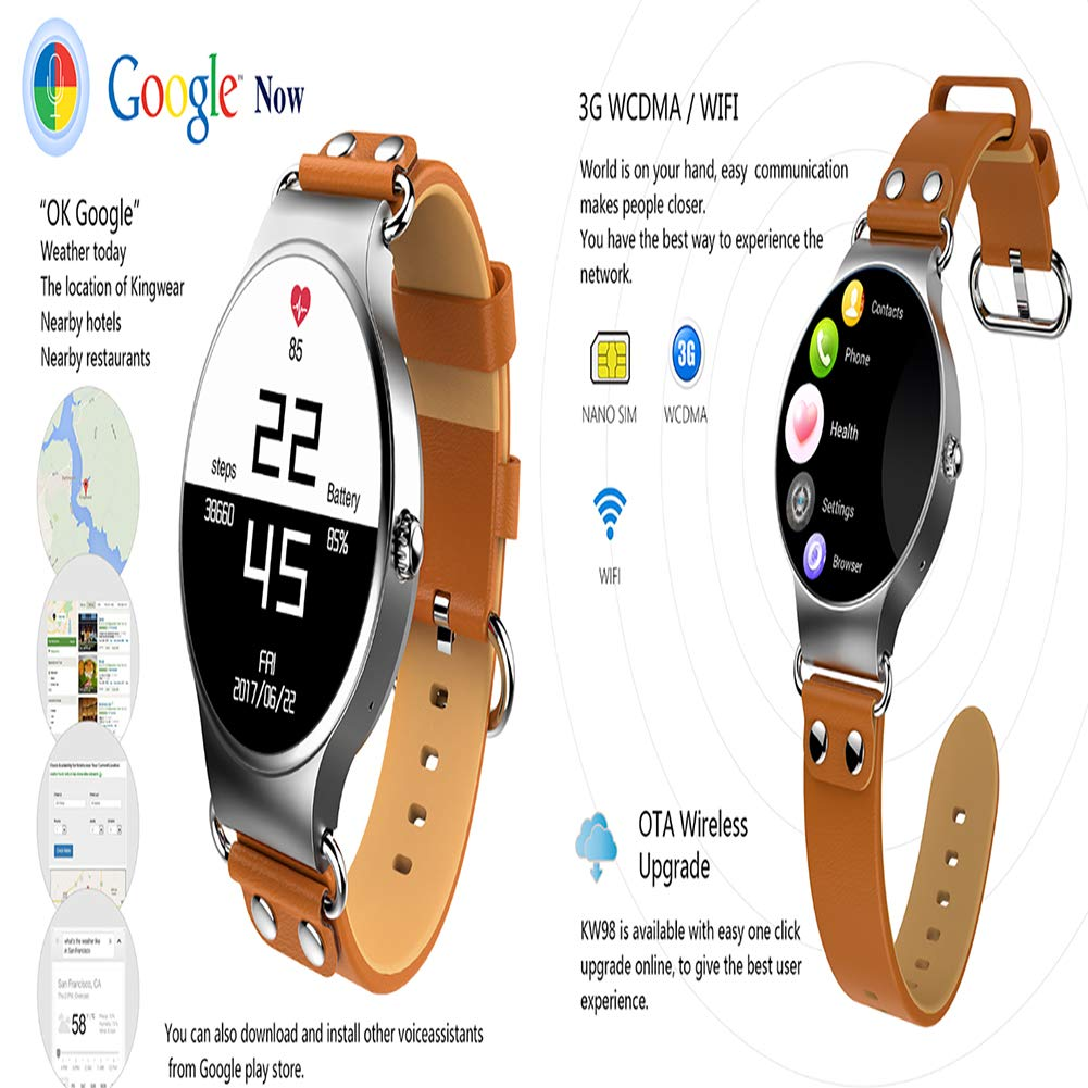 OOFAYWFD Reloj Inteligente, 1.39 Pulgadas visualización 400 × 400 ...