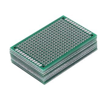 Akozon 10 piezas 4 x 6 cm Placa de circuito PCB Lados dobles Prototipos DIY Soldadura