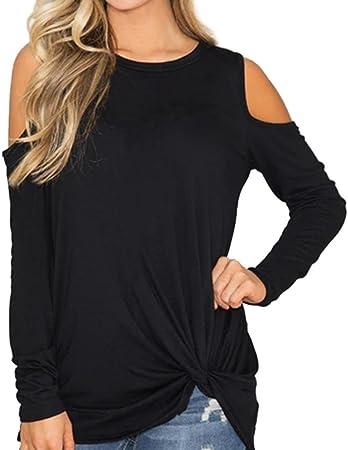Dream_Mimi Mujeres Casual Solid Camisas Largas para Mujer ...