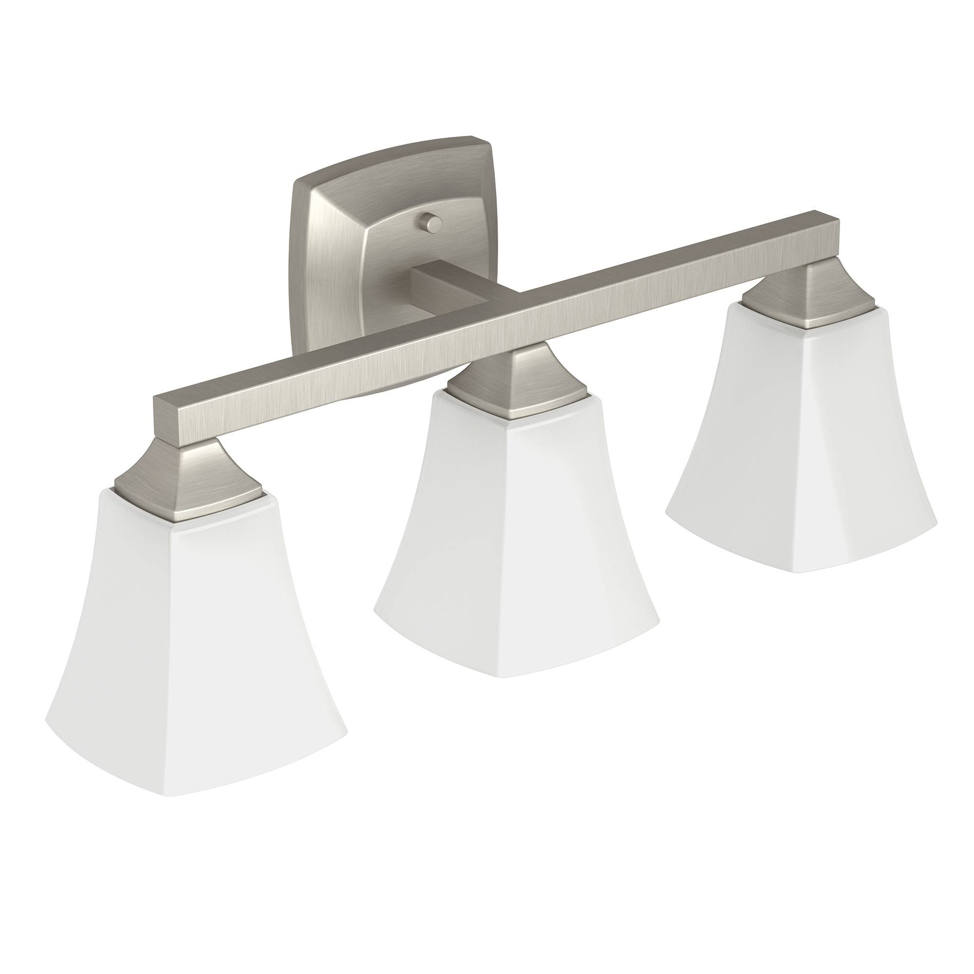 Moen YB5163BN Voss Bath Lighting Three Globe, Brushed Nickel by Moen