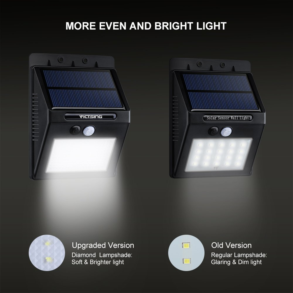 Amazon victsing 4pcs 20 led solar motion sensor lights amazon victsing 4pcs 20 led solar motion sensor lights super bright wireless waterproof outdoor solar powered motion activated security wall light aloadofball Image collections