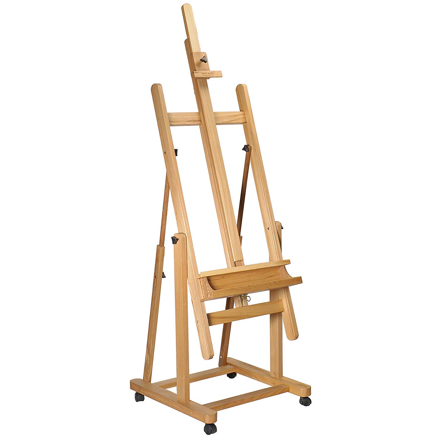"Artist Easel 87.40"" (7.28ft) – Large Adjustable Wooden Studio Easel can hold 90"" of Canvas – Ideal for Painting Drawing Wedding Outdoor Sketching Beech Wood Display Exhibition (222cm) Kurtzy"