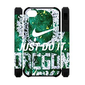 Super Famous UO NCAA Oregon Ducks IPhone 4S Dual Cover Case Nike Just Do It Snap On