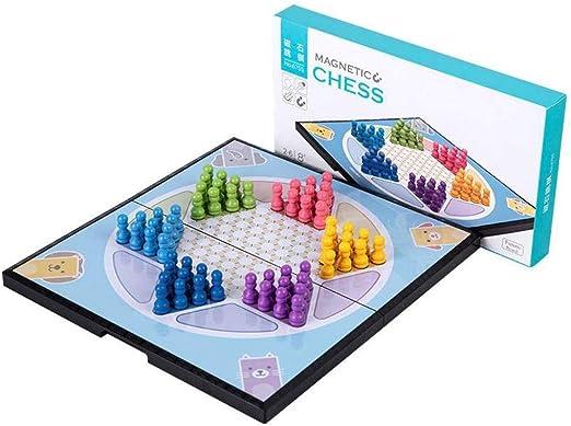 JinLiu Damas Chinas magnetico, Importar Plegable para 2 o más Jugadores (Importado) Juego de Mesa Familiar: Amazon.es: Hogar