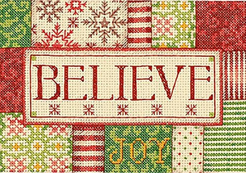 Dimensions 72F-73351 Crafts Needlecrafts Counted Cross Stitch Kit, Believe