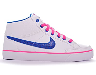 the best attitude 650c0 bb134 Nike Capri 3 Mid Leather (GS) mixte adulte, cuir lisse, sneaker high ...