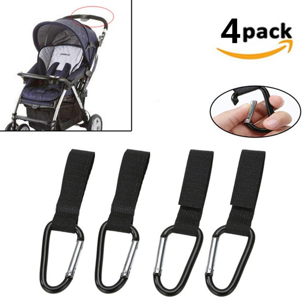 DWE 6PCS Baby Stroller Hook,Pushchair Hanger Hanging Hooks Pram Hook Carriage Storage Bag Baby Carriage Stroller Accessories 6Pcs