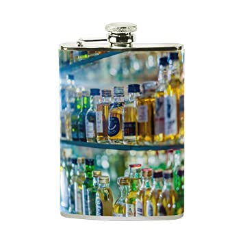 U vida moderna de licor botellas de vidrio frascos de petaca portátil Mini de licor Alcohol
