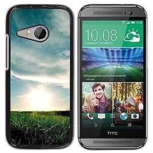 "For HTC ONE MINI 2 / M8 MINI , S-type Naturaleza Sunset campos"" - Arte & diseño plástico duro Fundas Cover Cubre Hard Case Cover"