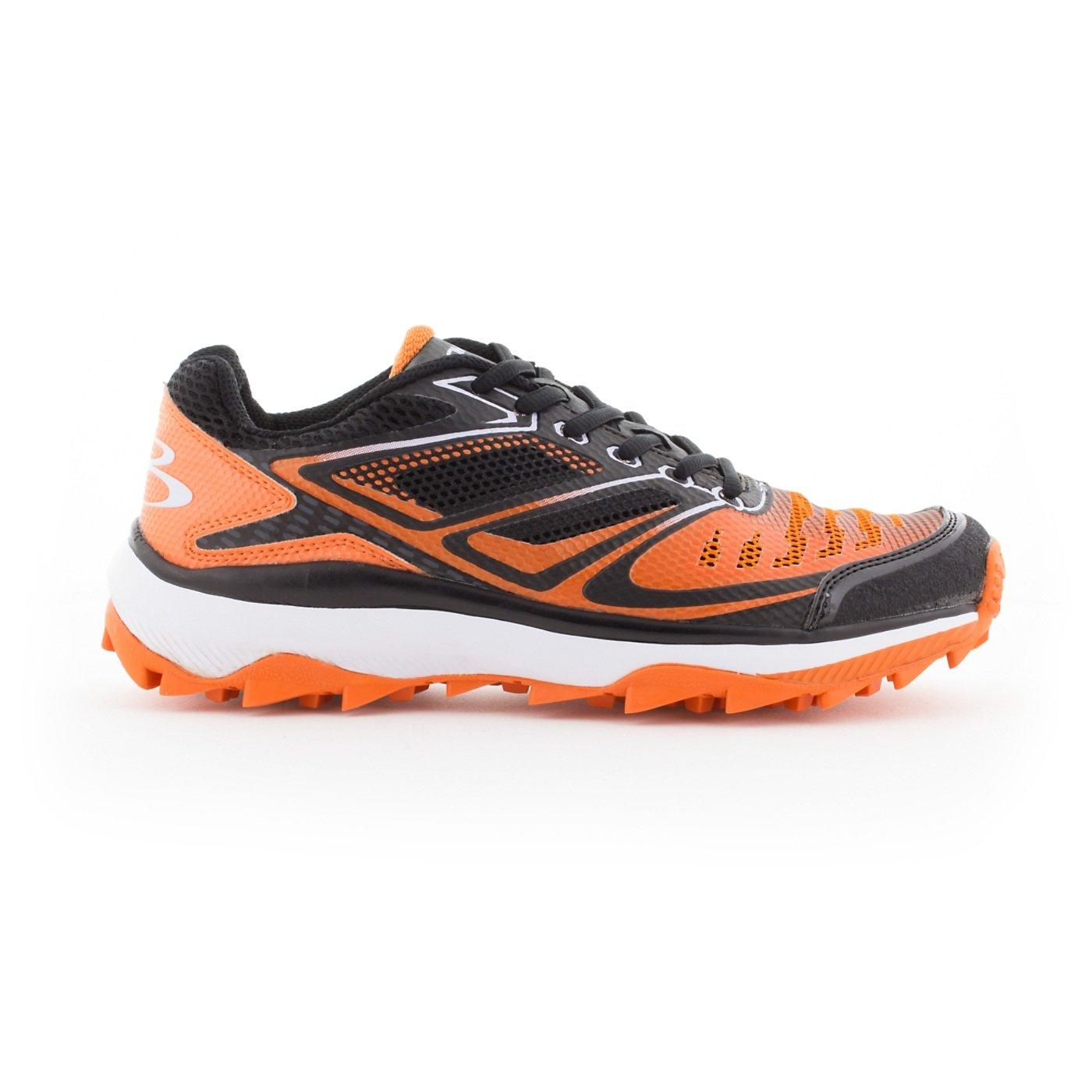 BoombahメンズTurbine Turf Shoes – 20カラーオプション – 複数のサイズ B076JRC7BP 5.5 ブラック/オレンジ ブラック/オレンジ 5.5