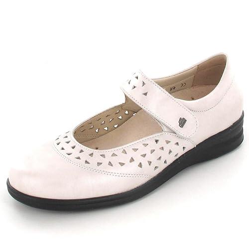 Finn Comfort Finncomfort - Mocasines de Piel Para Mujer, Color Plateado, Talla 37 EU: Amazon.es: Zapatos y complementos