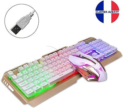 clavier ordinateur filaire rétroéclairé