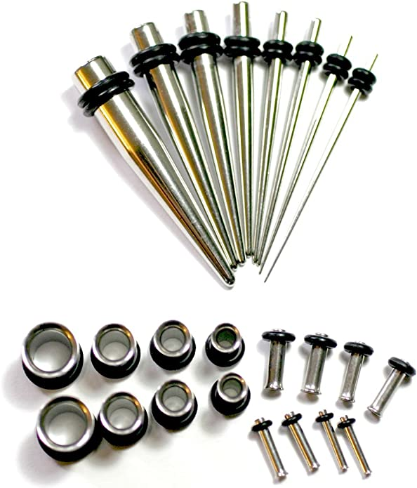 18G//16G 316L Titanium Stainless Steel Taper Piercing Tool for Stretching Ear