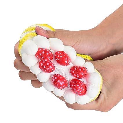 Juguetes Apretados, ❤️Xinantime Stress Reliever Strawberry Cake Scented Super Slow Rising Juguete para niños