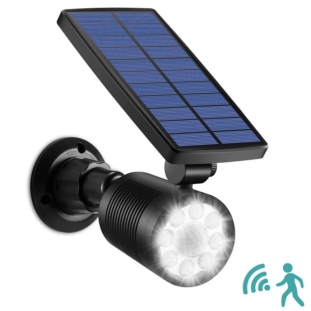 Solar LightsOutdoorMotionSensor Garden Lights, Ubitree 8 LEDs Flood Lights 800Lumens Solar Powered Spotlight Waterproof Security Light for Garden Patio Driveway Pathway Porch