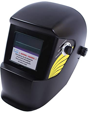 CCLIFE Careta Soldar Automatica Casco de protección para soldar, Color:Negro