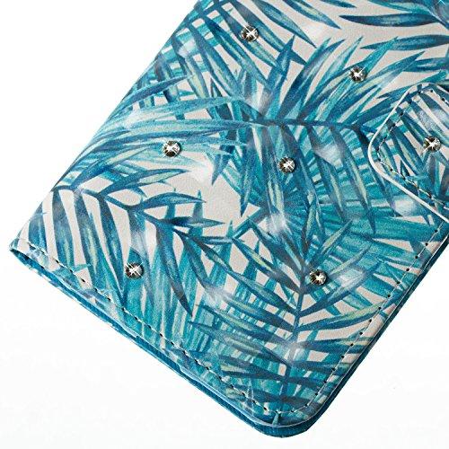 Samsung Galaxy J7 2016 PU Cuero Funda, Vandot 3D Bling Rhinestones Mariposa Shell TPU Inner Bumper Case Funda con Billetera Tapa Holster Cierre Magnético Tarjeta Ranura Carcasa Teléfono Concha Bolsa C SZCH-4