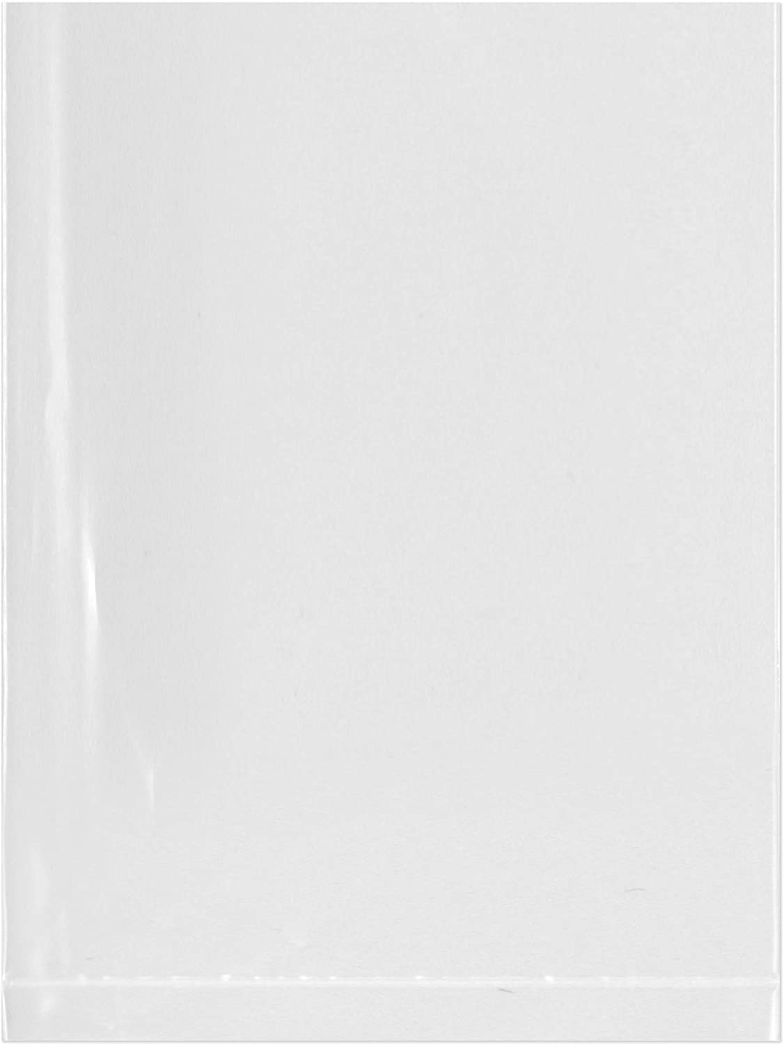 Plymor Flat Open Clear Plastic Poly Bags, 2 Mil, 3