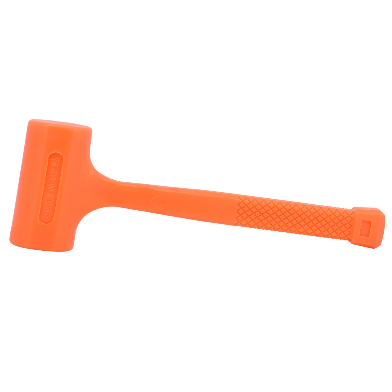 Neiko 02848A 3 LB Dead Blow Hammer, Neon Orange | Unibody Molded | Checkered Grip | Spark and Rebound Resistant by Neiko (Image #1)