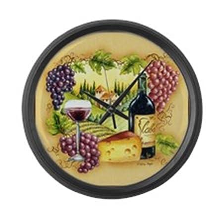CafePress – Grape – Large 17 Round Wall Clock, Unique Decorative Clock