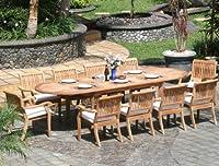 11 Pc Luxurious Grade-A Teak Dining Set - Large 117