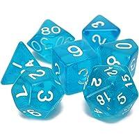Alamana - Juego de 7 dados poliédricos para juegos de mesa con dados digitales