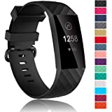 Velavior Waterproof Bands for Fitbit Charge 3/ Fitbit Charge 4/ Charge3 SE, Replacement Wristbands for Women Men Small…
