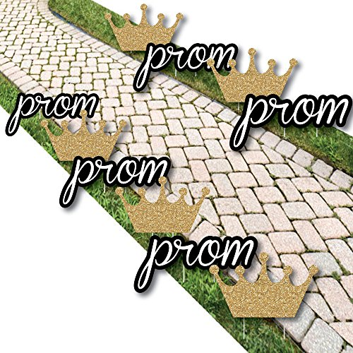 Prom - Crown Lawn Decorations - Outdoor Prom Night Party Yard Decorations - 10 Piece]()