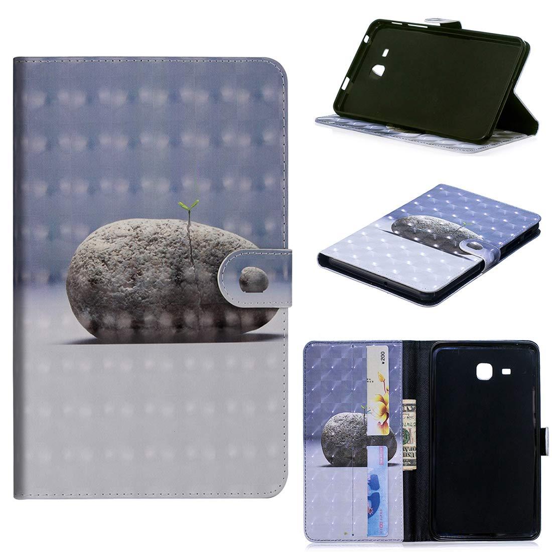 Lyzwn Samsung Galaxy Tab E 9.6 inch (SM-T560/SM-T561) Étui Housse Coque Smart Case Cover Stand, Protection avec Support Multi Angles de Fonction Intelligente Veille/Réveil Automatique