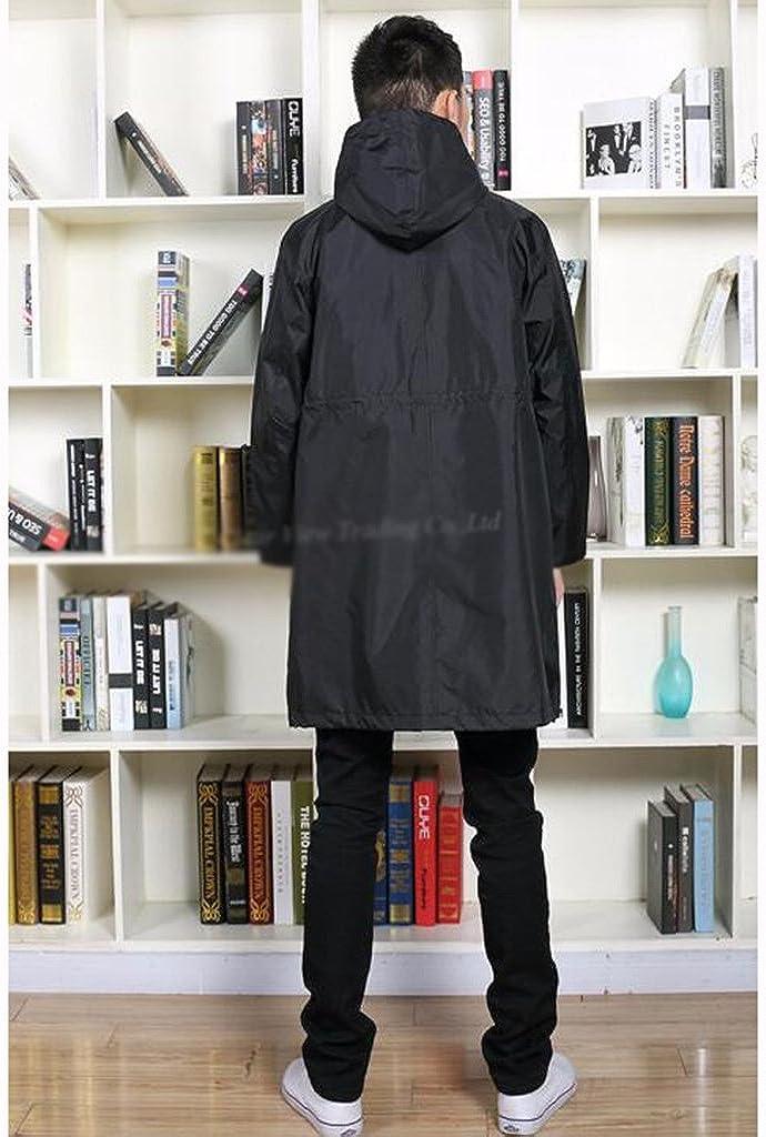 Zfggd Imperméable imperméable pour Homme avec imperméable en Nylon et Poncho imperméable Black