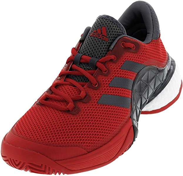 buy popular 8d90b dac03 Adidas Mens Barricade 2017 Boost Mens Tennis Shoe Scarlet RedNight  MetallicDark Burgundy