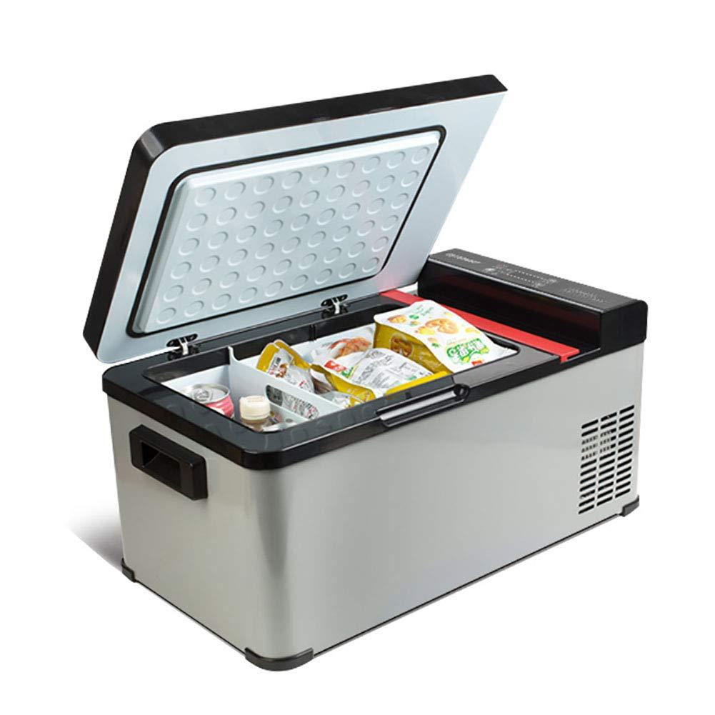 FJW 21L Car Refrigerator, Dual Voltage Mini Refrigerator 12V/24V DC/220-240V AC Air Compressor with Voltage Detection for Car and Home, Travel, Camping