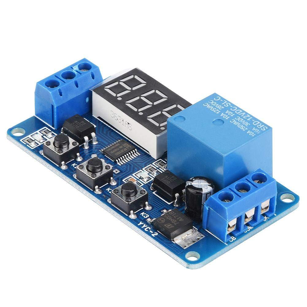 12V module daffichage /à LED Relais de minuterie module de commutation de contr/ôle dautomatisation r/églable