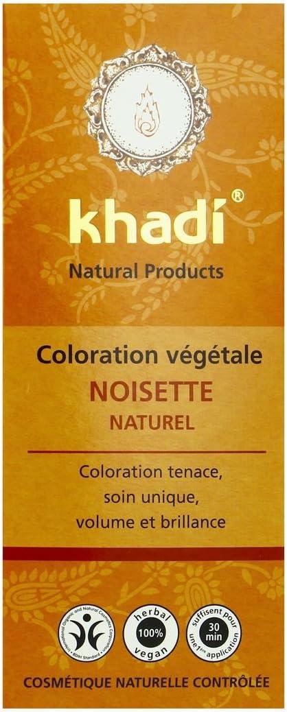Khadi – Coloración vegetal de avellana natural, 100 g ecológica.