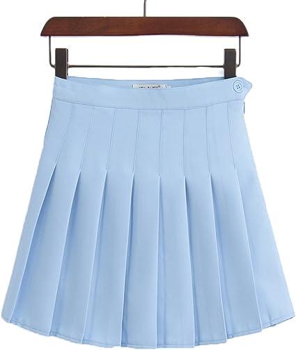Babysbreath Verano de Alta Cintura Plisada Faldas Mujeres niñas ...
