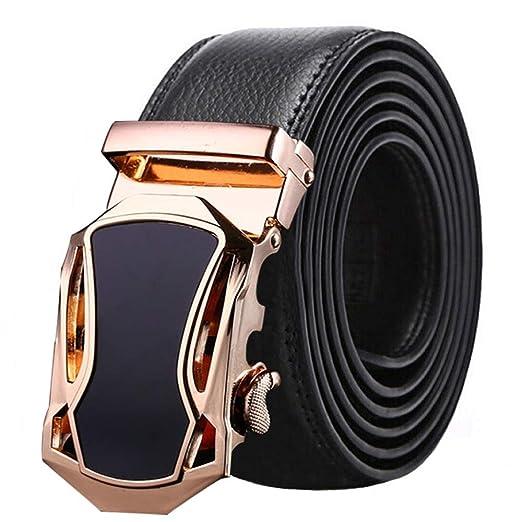 Cinturones de Hombre Cinturón de Cuero para Hombres Negro y marrón ...