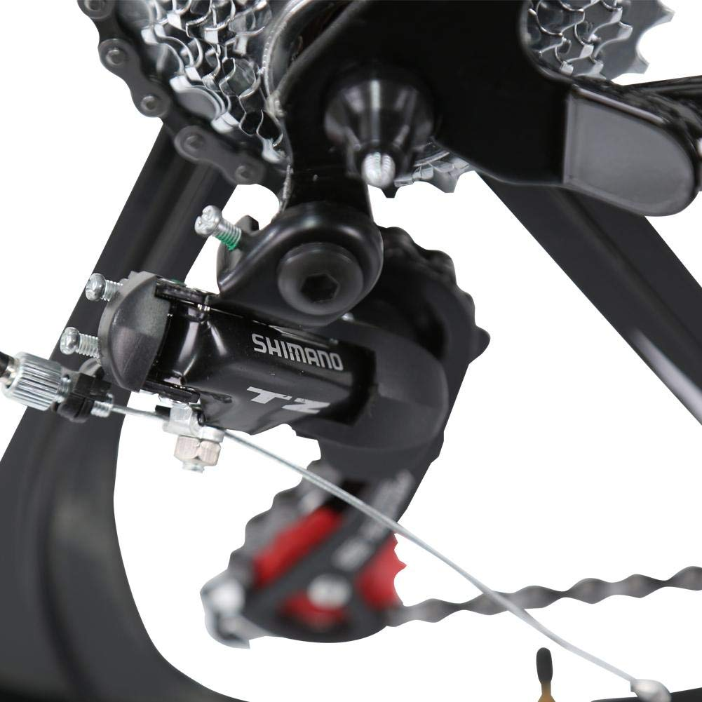 Amazon.com: Bicicleta Acero Plegable Montaña Doble Disco ...