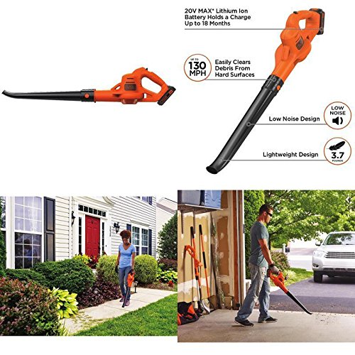 Cordless Leaf Blower Lawn Yard Sweeper Battery Powered Operated With Charger New ✅ by GOOD MEDIA