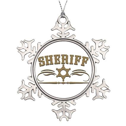 Amazon.com: Xmas Trees Decorated Sheriff Western Style ...