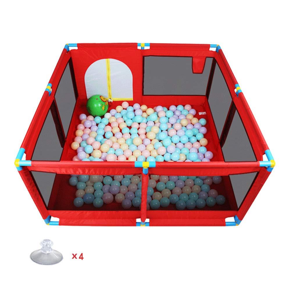 公式サイト ベビーサークル 子供用プレイフェンス :、66cm高さ - 128x128cm) 赤 (サイズ、幼児のための8パネルベビープレーン、扉付き携帯用プレイヤード (サイズ さいず : 128x128cm) 128x128cm B07KZY51XC, おちゃのこさいさい:e57ac5bd --- a0267596.xsph.ru