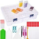SGHUO - Contenedores de almacenamiento para pintura de diamantes, 58 piezas de herramientas de pintura con diamantes 5D…