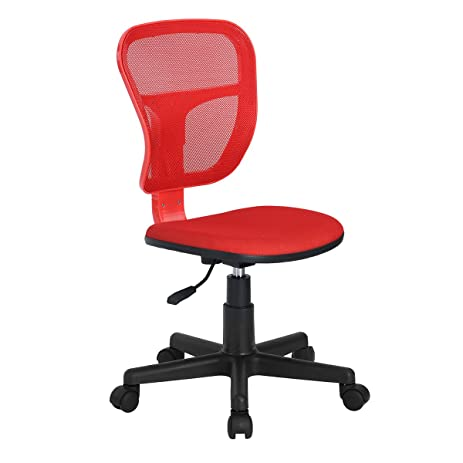 Merveilleux Homycasa Armless Swivel Office Mesh Computer Desk Chair, RED